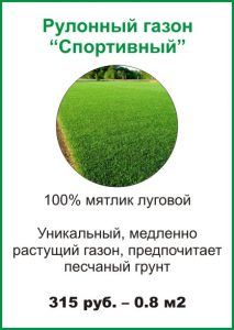 Рулонный газон «Спортивный» - Устройство рулонных газонов