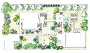Дизайн участка - План посадок, разработка дендроплана