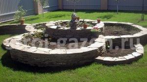 Архитектурные формы - Огород из плоских камней