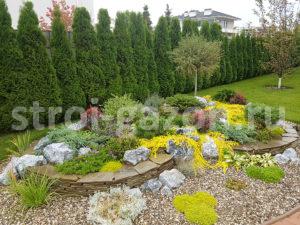 Альпийская горка - Ландшафтный дизайн загородного дома