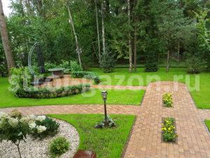 Мощение дорожек и площадок - Ландшафтный дизайн загородного дома