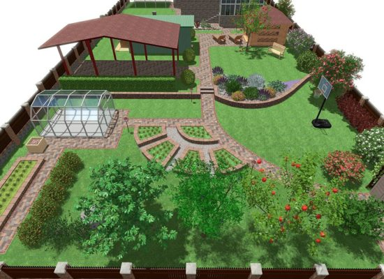 Ландшафтный дизайн 3D - студия Строй-Газон